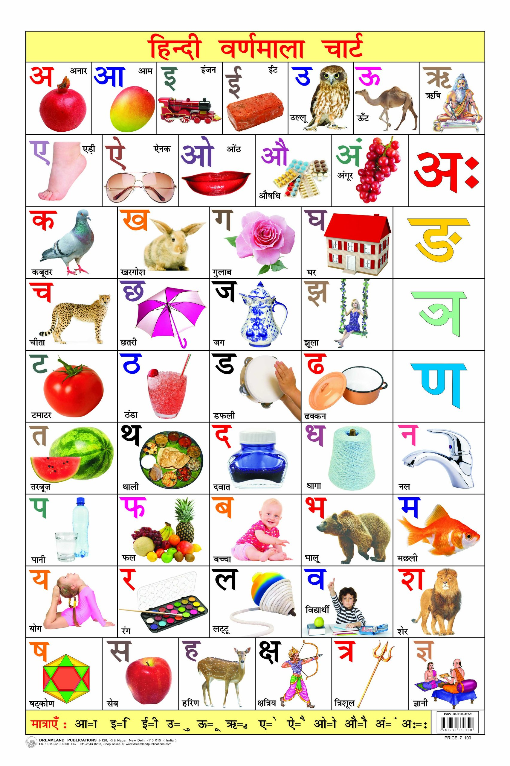 Hindi Varnamala Chart Educational Oshiprint In