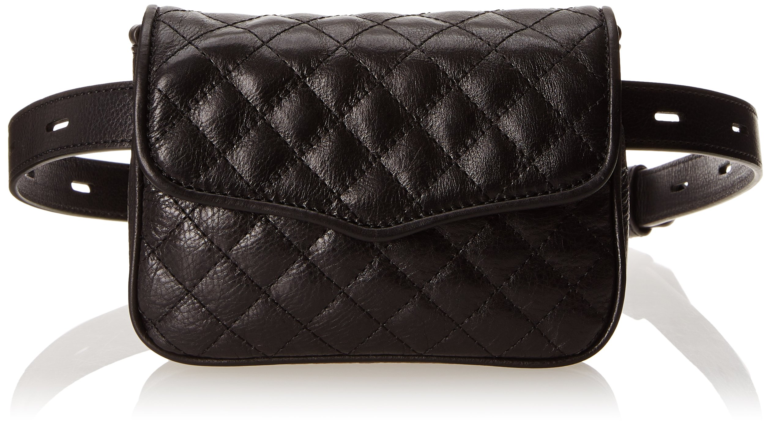 Rebecca Minkoff Affair Fanny Cross Body  Black Designer Fanny Pack Hip Bag