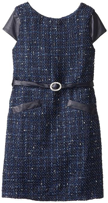 Biscotti Big Girls' Dress, Navy, 10