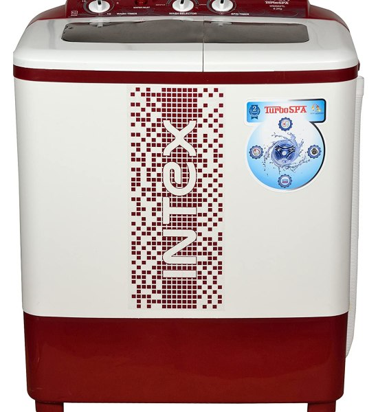 Intex WMS62TL Semi-automatic Top-loading Washing Machine (6.2 Kg, White and Maroon)