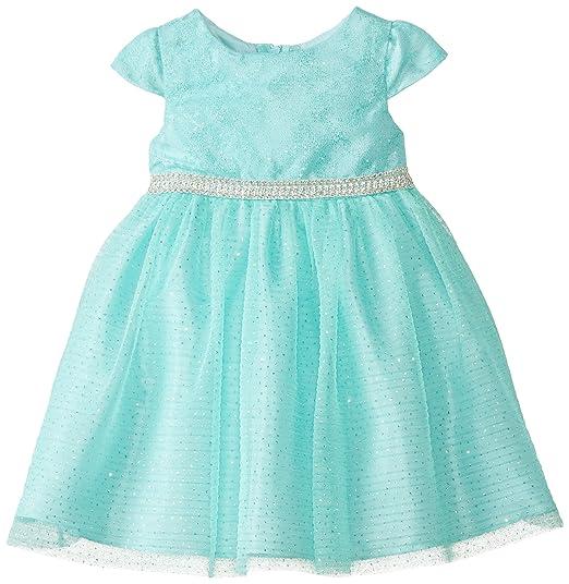 Rare Editions Little Girls' Lace Sparkle Occasion Dress, Mint, 6X