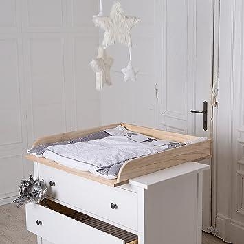 table a langer en bois naturel pour commode ikea hemnes snrlnoii 42