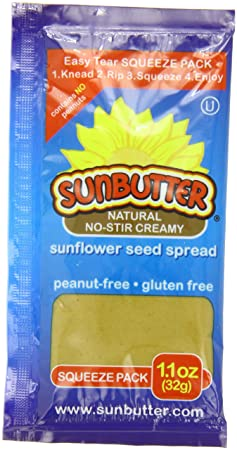 Sunbutter Sunflower Seed Spread,On The Go Pouch, Natural, 10-Count, 1.1-Ounce (Pack of 6)