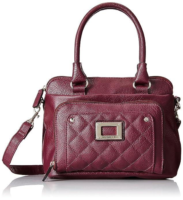 Rosetti Ivana Satchel Grab Top Handle Bag, Cordovan, One Size
