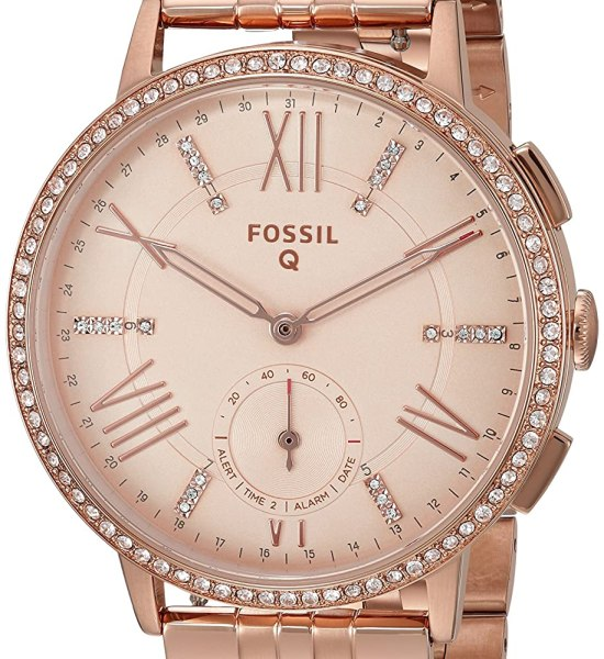 Fossil Q Gazer Hybrid Rose Gold Tone Stainless Steel Smartwatch