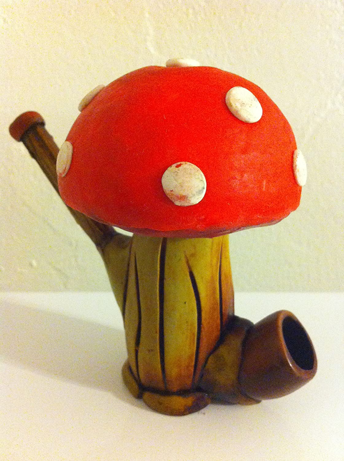 Handmade Tobacco Pipe, Power-Up Mushroom Design