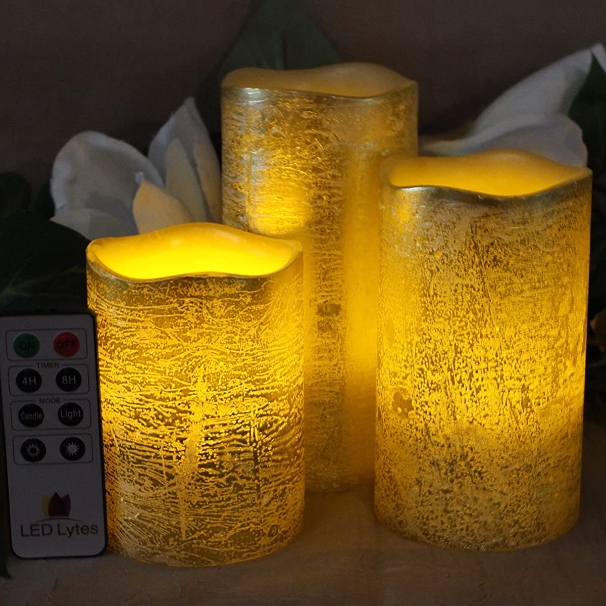 Operated Timer Flickering Battery Candle