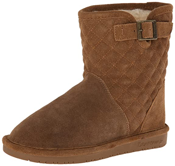 BEARPAW Leigh Anne Youth Boot (Little Kid/Big Kid),Hickory,4 M US Big Kid