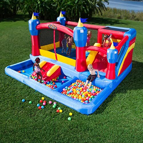 Misty Kingdom Inflatable Bouncer - Water Park with Slide by Blast Zone
