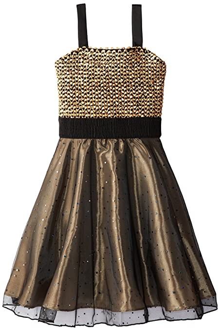 Dorissa Big Girls' Mia Dress, Gold, 7