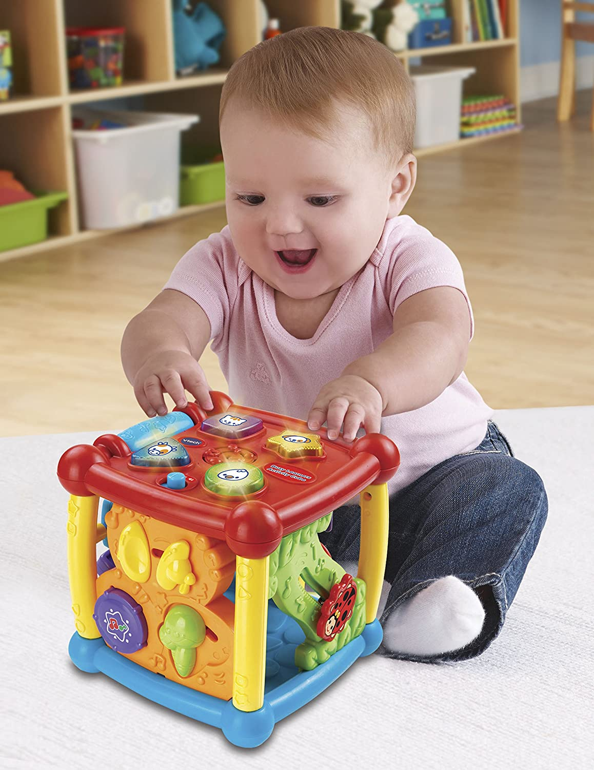 Vtech Baby Activity Center Cube Kids Learning Toys Animal Sounds Shapes Toddler