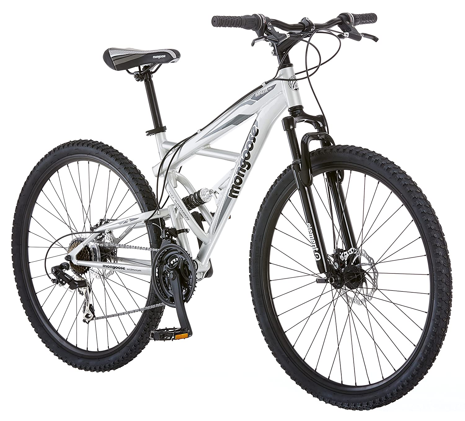 Mongoose Impasse Dual Full Suspension Bicycle