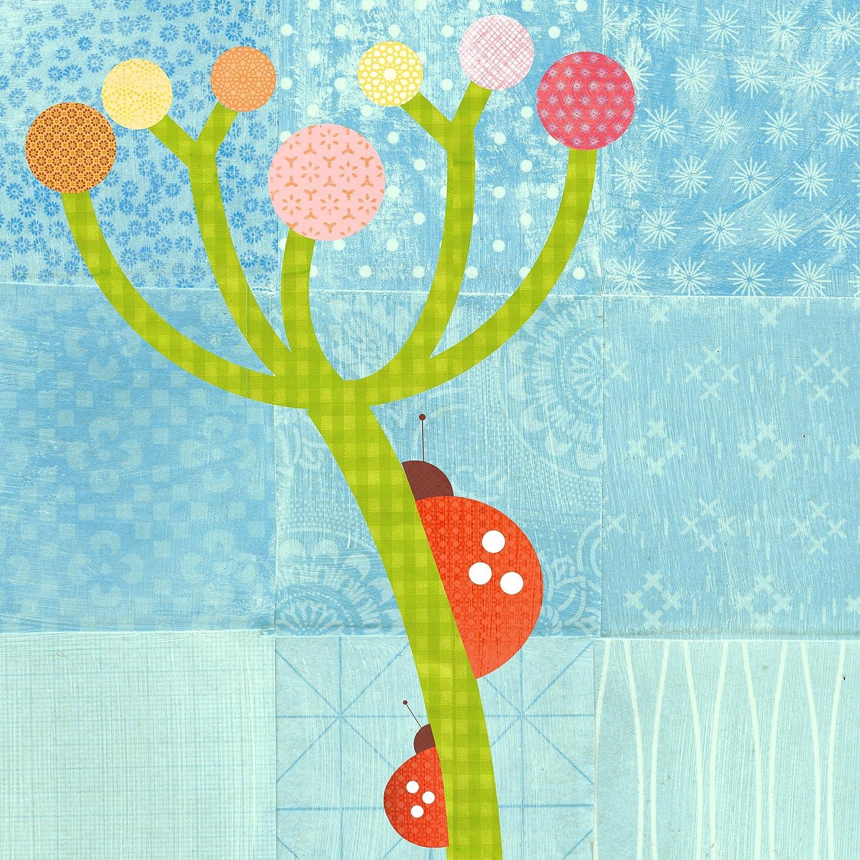 Oopsy Daisy Ladybug Art Stretched Canvas