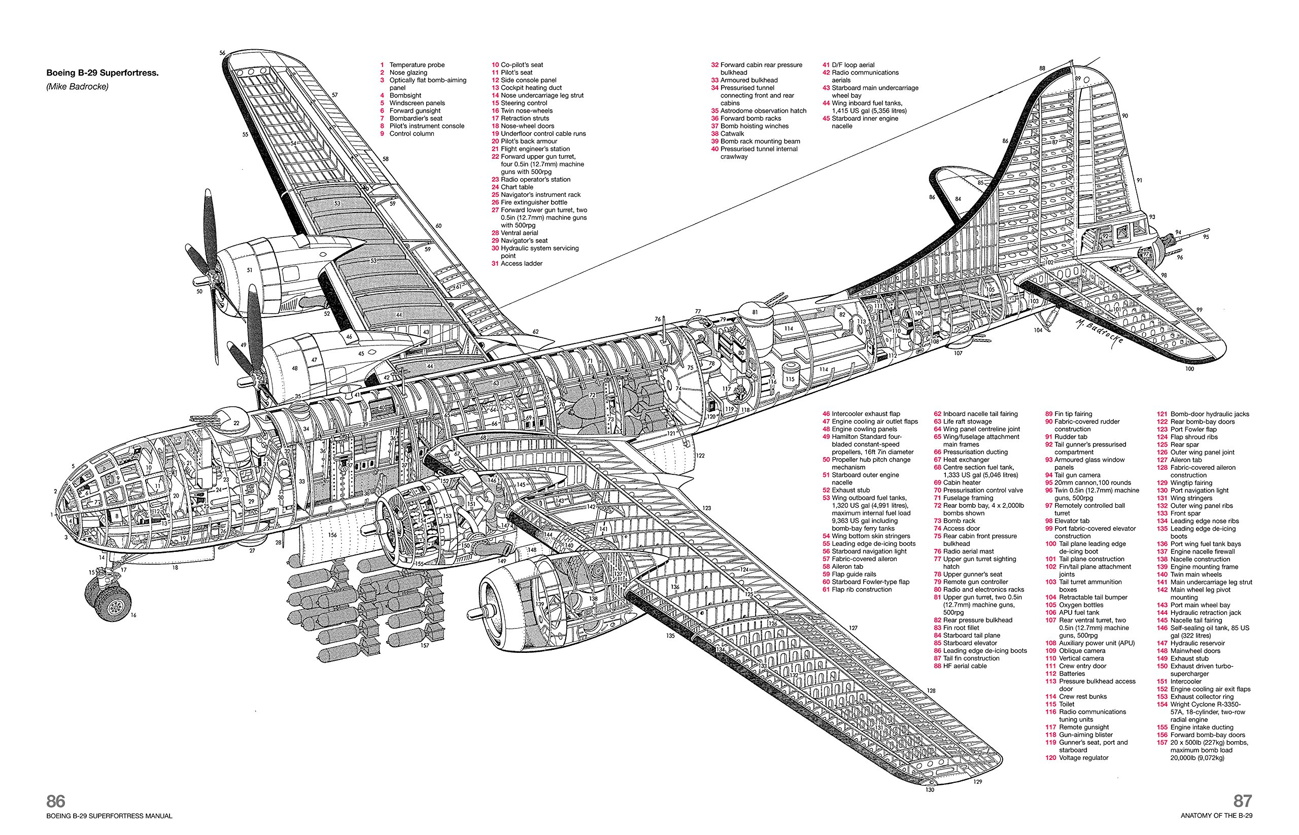 Boeing B 29 Superfortress Cut Away