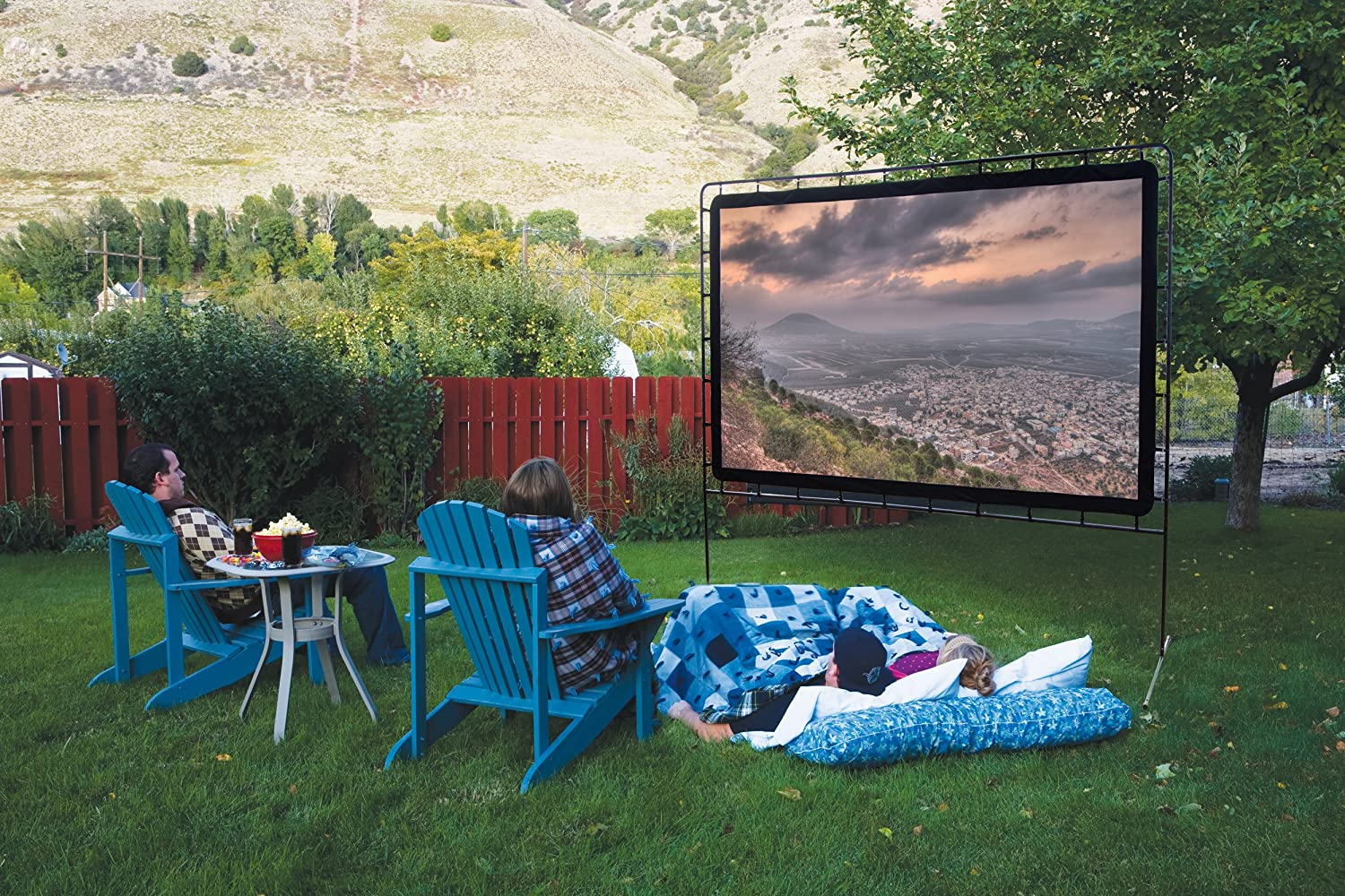 Camp Chef OS132 Super Outdoor/Indoor Movie Screen 132 inch