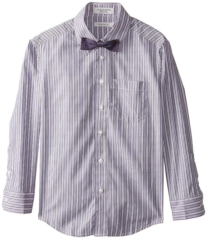 Perry Ellis Big Boys' Fashion Packaged Shirt, Sour Grape, 08