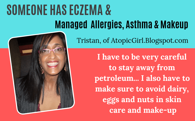 Someone has eczema Tristan Joseph AtopicGirl managed allergies asthma makeup Story on EczemaBlues