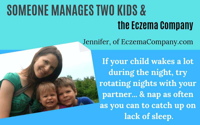 Someone has eczema Jennifer of the Eczema Company Story on EczemaBlues