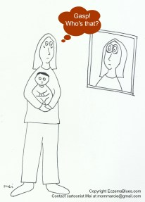 Mom NeedyZz Cartoon Lack of Sleep Dark Circles