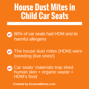 House dust mites in child car seats