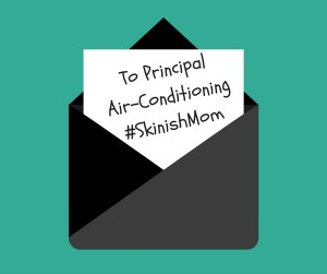 Back to School Eczema Letter to School on Air-Conditioning