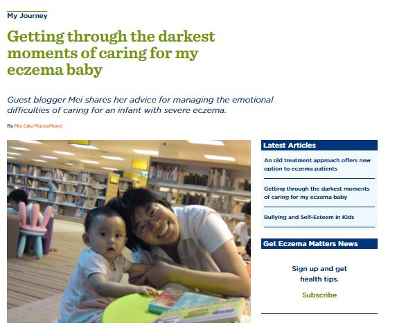 Eczema Journeys on National Eczema Association website