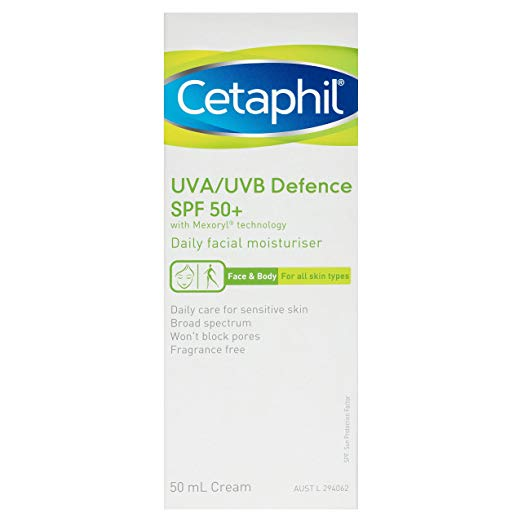 Cetaphil UVA UVB SPF50 sunscreen