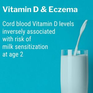 Cord blood vitamin D levels inversely associated with risk of milk sensitization at age 2