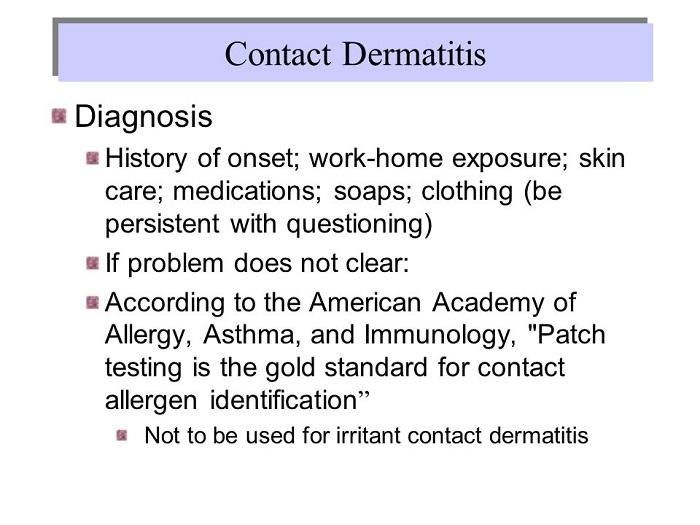 Diagnosis of Contact Allergy