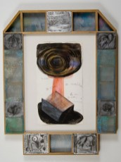 "Elba Damast, ""Estudio 910,"" 1991 Custom frame, acrylic and ink on paper. 72cm x 56cm Collection of the family"