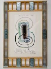 "Elba Damast, ""Estudio 58,"" 1991 Custom frame, acrylic and ink on paper. 69cm X 42cm Collection of the family"