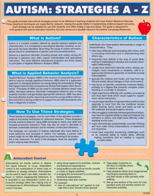 Autism Classroom Strategies A Z Education 311