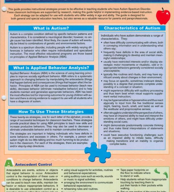 Autism: Classroom Strategies A-Z