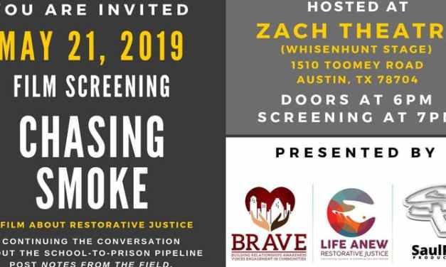 "Announcing the Zach Scott Theater screening of ""Chasing Smoke"""