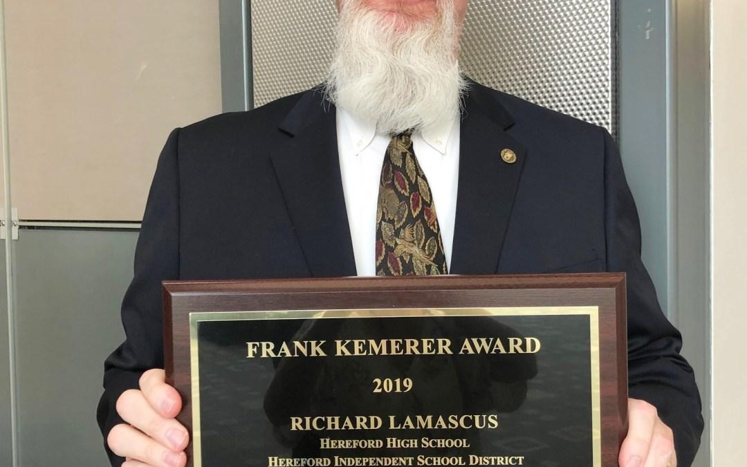 Meet Richard LaMascus: The Recipient of the 2019 Kemerer Award