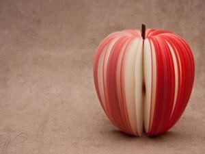 Bagaimana cara memotong apel dengan indah?
