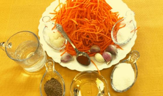популярный салат- морковь по- корейски