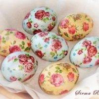 Декупаж вареных яиц на крахмале