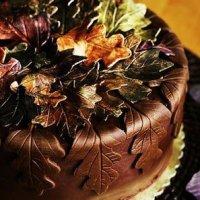 Как сделать шоколадные листья для украшения торта