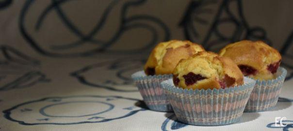 Muffins con toque de frambuesas