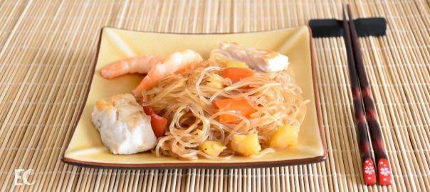 noodles de cristal con bicuda