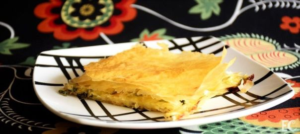 milhojas de espinacas y queso