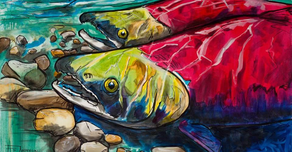 Upstream, Ed Anderson Art