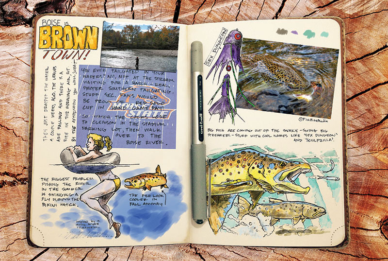 ed anderson art journal fishing boise