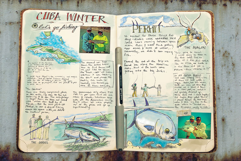 cuba travel fishing journal