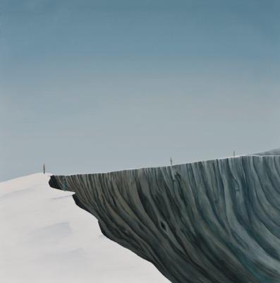 "Tarmo Roosimölder ""Servalkõndijad"", õli, lõuend, 100x100. 2013"