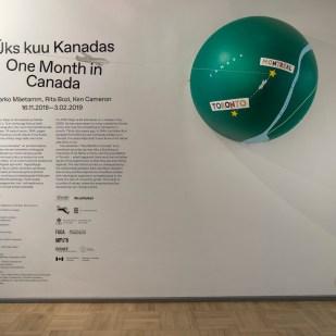"""Marko Mäetamme, Rita Bozi ja Ken Cameroni näitus """"Üks kuu Kanadas"""".   Foto: Karel Koplimets, Tallinna Kunstihoone."""