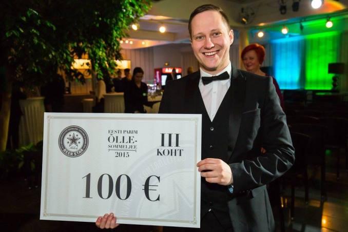 Marko esimene võistlus - Eesti Parim Õllesommeljee 2015. Foto: Eesti Sommeljeede Assotsiatsioon