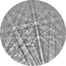 figure 2 - copper t-EBSD pattern