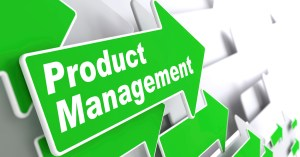 """Product Management - Business Concept. Green Arrow with """"Product Management"""" Slogan on a Grey Background. 3D Render."""